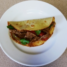 Fajitas With Paleo Tortilla